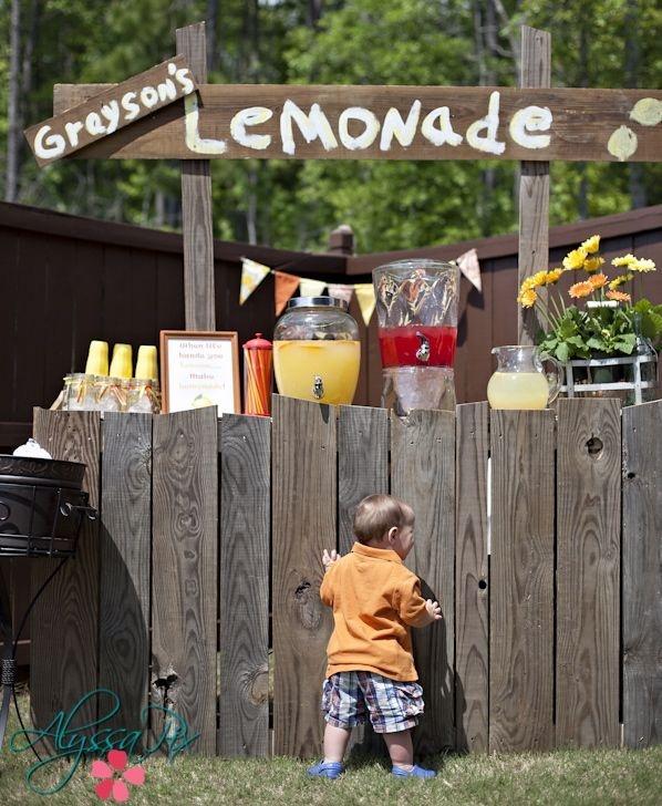 120 best lemonade stands images on pinterest lemonade for Cool lemonade stand ideas