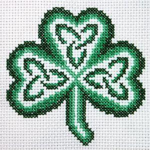 shamrock by claddagh cross stitch free chart for cross stitch