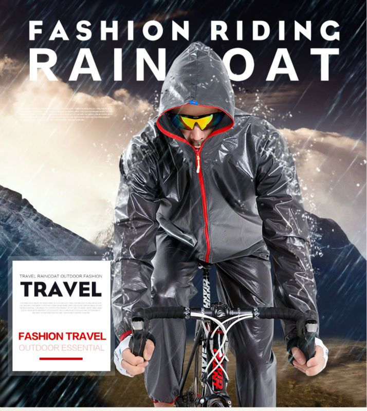 Mountain bike outdoor sports riding fission raincoat rain pants suit men cycling sun poncho outdoor riding accessories