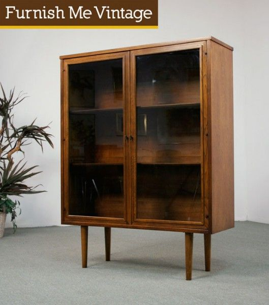 Mid Century Modern Sculptra China Cabinet. $295. This is what I'm looking for in a china cabinet.