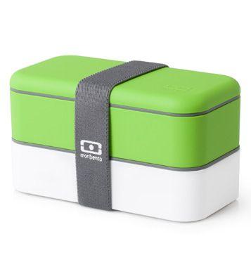 Двухъярусный ланчбокс Original Bento (разные цвета) / Зелёный