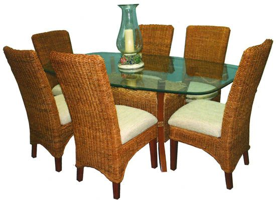 17 best images about dining tables chairs on pinterest for Beach craft rattan furniture