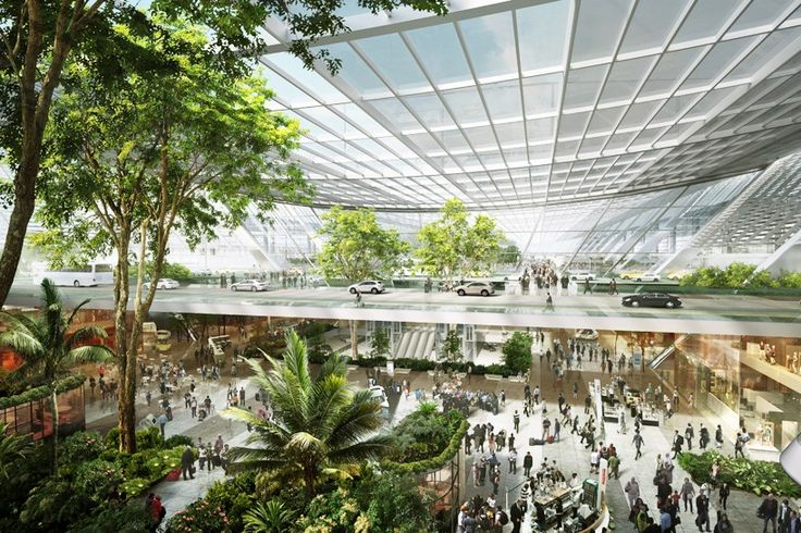 foster + partners articulates taiwan airport terminal proposal around linear garden