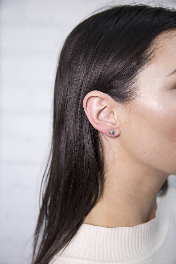 925 Silver Stars Earrings/ Tiny Stars Silver Stud/ Geometric