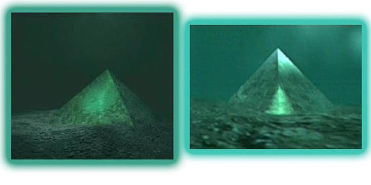 Two giant underwater pyramids, made of thick glass, found in the center of the Bermuda Triangle