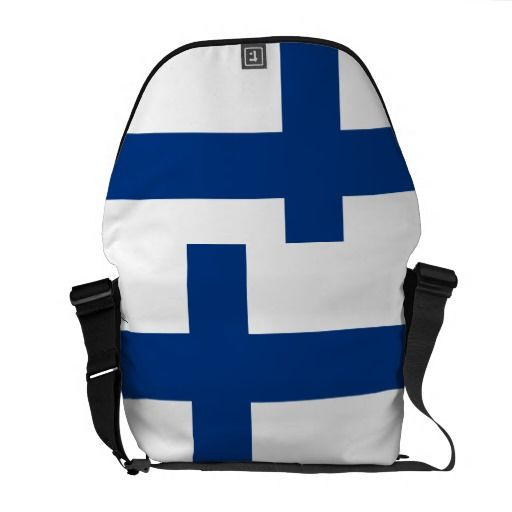 finland flag courier bags