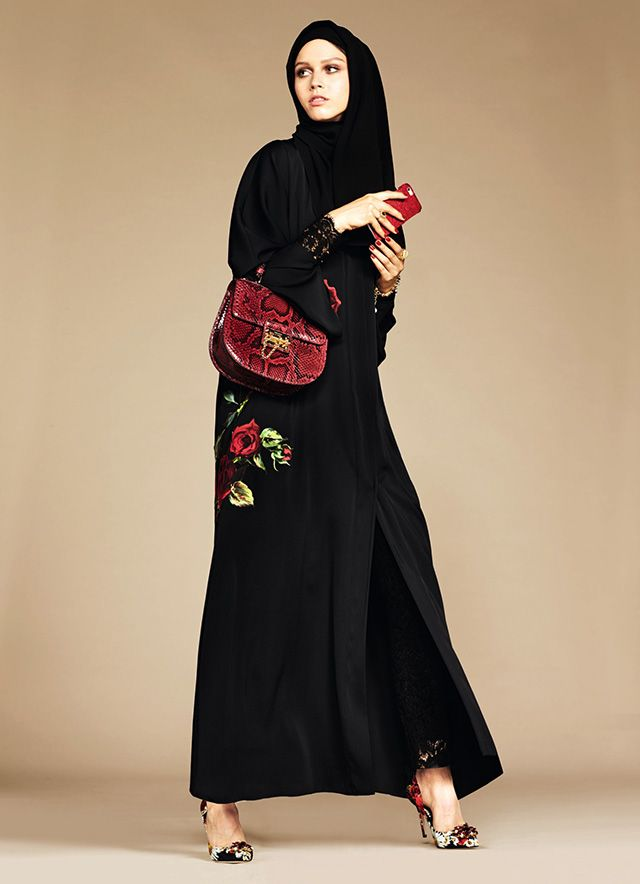 Dolce & Gabbana's abaya debut - The Italian fashion brand joins an every-growing list of labels who already create Ramadan-inspired capsule collections including Oscar de la Renta, DKNY, Mango and Tommy Hilfiger, as well as Uniqlo, who entered the market last year with their line of traditional oriental headgear. --- #dolceandgabbana #imageconsultant #silkgiftmilan #personalshopper