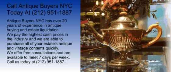 Antique Buyers NYC is a top rated NYC Antique Buyers Service Provider since 1993. If you need Manhattan NY Antique Buyers or a NYC Antique Appraisal call today.