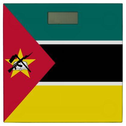 #Mozambique Flag Bathroom Scale - #Bathroom #Accessories #home #living