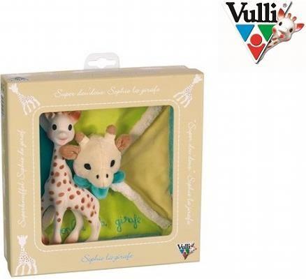 Zestaw Żyrafa Sophie z przytulanką - Sophie to naprawdę wyjątkowa zabawka dla Niemowląt, jeśli jeszcze się o tym nie przekonałeś, to zwróć uwagę jak żyrafka stymuluje prawie wszystkie zmysły Twojego Dziecka.   Gdy Maluch rośnie, dostrzega jedynie kontrastowe elementy. Ciepłe, a jednocześnie zdecydowane barwy Sophie, przyciągają uwagę Niemowlęcia i żyrafka szybko staje się rozpoznawanym przez niego, przyjaznym obiektem. W ten sposób Sophie pobudza zmysł wzroku Twojego Szkraba.