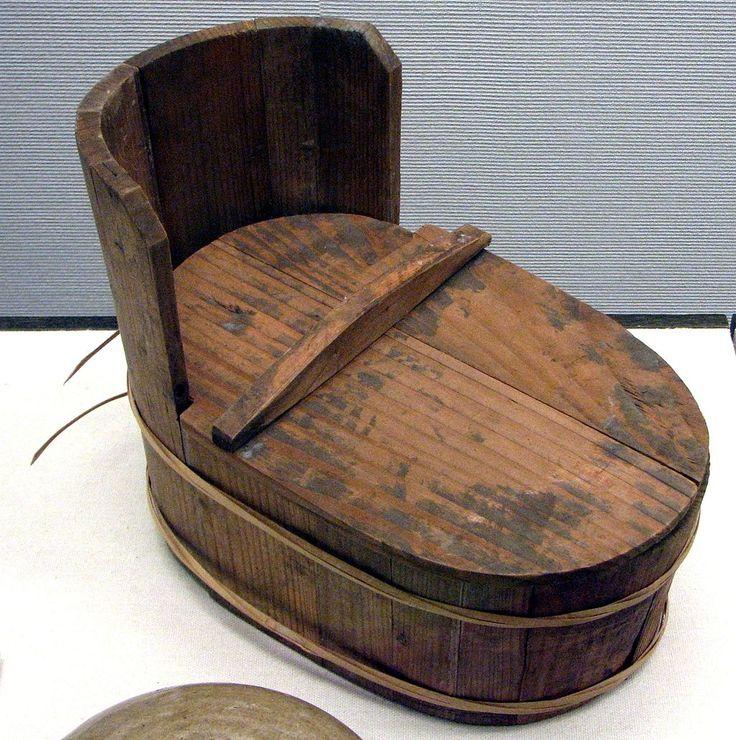 Pot de chambre japonais de l'époque d'Edo