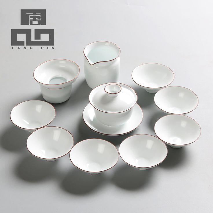 TANGPIN nordic style white pocelain teapot ceramic kettle ceramic tea pot teacup chinese kung fu tea set with gifts box