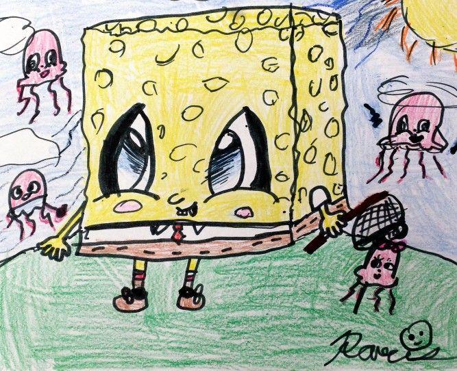 Sponge Bob Square Pants drawing by Paris Wiideman