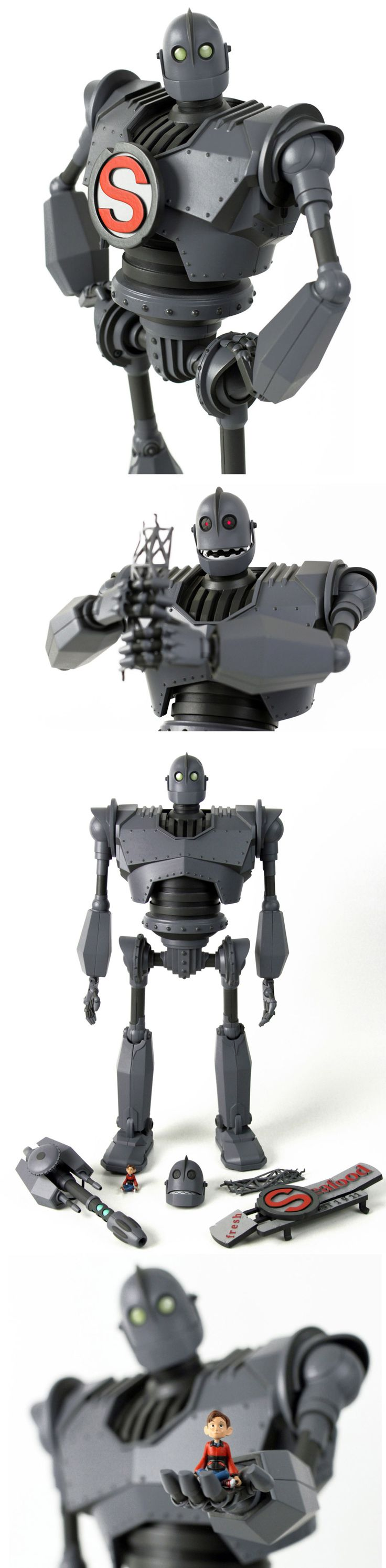 "The Iron Giant Deluxe Figure by Mondo- when I decided to work on a robot story, The Iron Giant was the first thing I thought of. I'm sure I'm not the only one who still get's choked up hearing the phrase ""Supermaaan"""