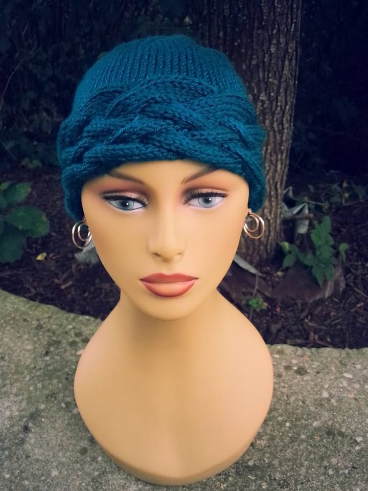 Knit Cabled Chemo Cap My Knitting Work Pinterest