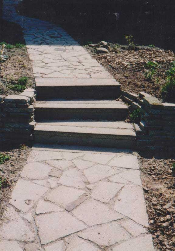 mozaiek van gebroken stoeptegels
