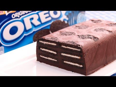 Tarta de Galletas Oreo y Chocolate sin Horno - YouTube