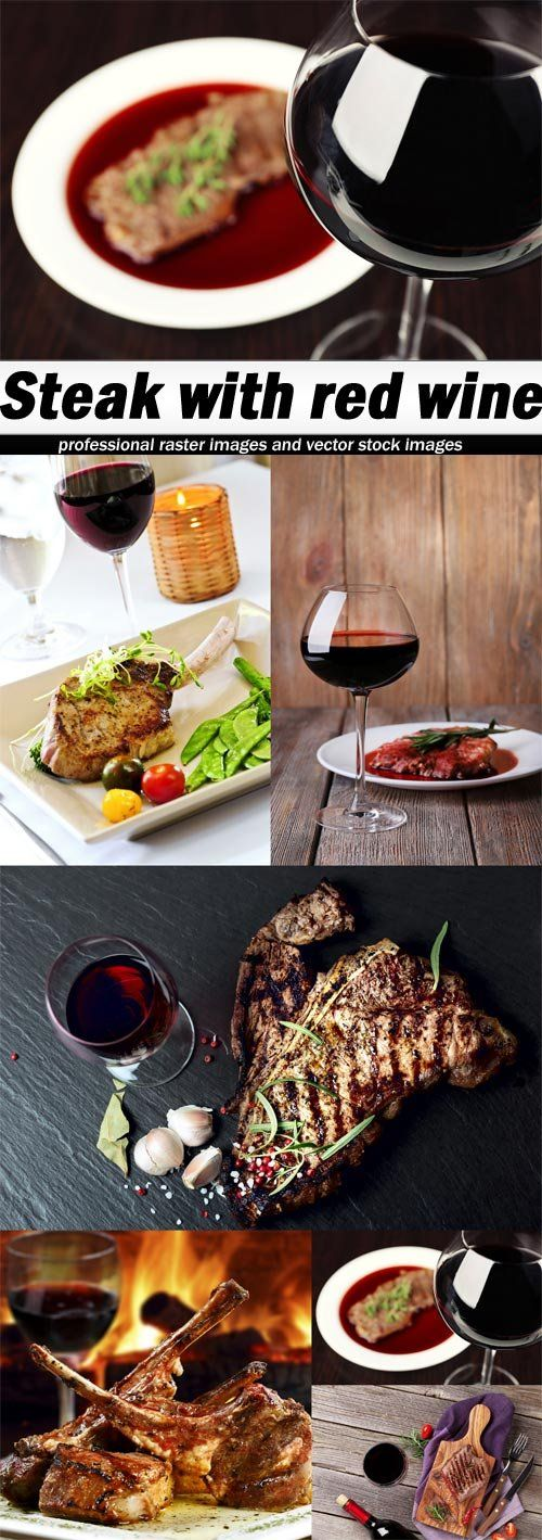 Steak with red wine-6xJPEGs