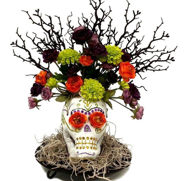 92 best Halloween Flower Arrangements images on Pinterest   Flower ...