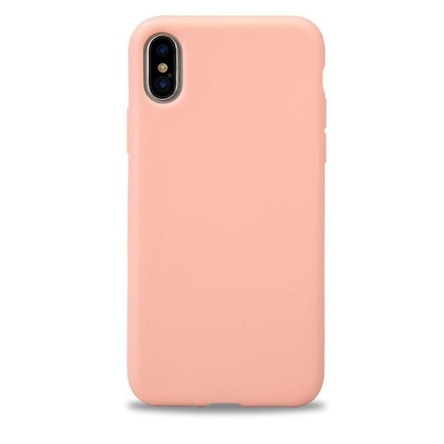 Jisoncase for iPhone X Edition Case Silicone TPU Soft Cover Slim Candy Color Waterproof Phone Case for iPhone X Back Cover Capa