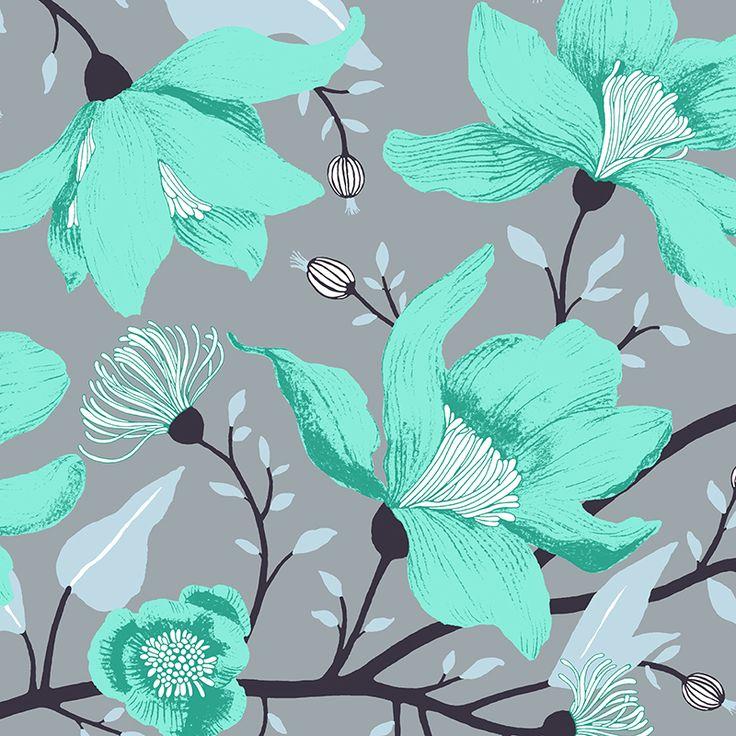 Jolie turquoise by Tanja Orsjoki - Wallpapers / Tapetit