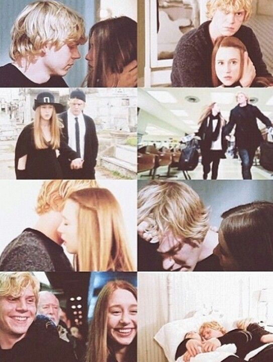 Evan Peters & Taissa Farmiga as Kyle Spencer and Zoë Benson