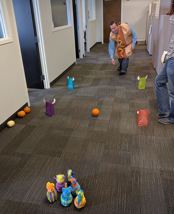 Pumpkin Bowling! Publishers across the country held parties as staffers donned costumes based on favorite characters and books. See our collection of photos from the festivities.