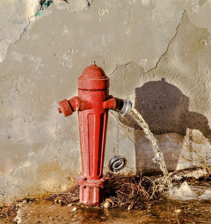 Fire Hydrant - Open Red Fire Hydrant