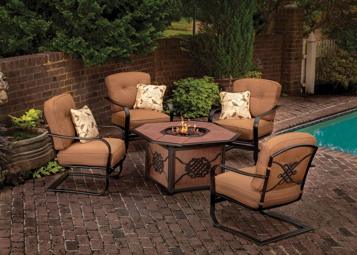 Agio International Moonlight Gas Fire Pit And 4 C Spring Chairs. Dump  FurnitureFurniture DecorOutdoor ...