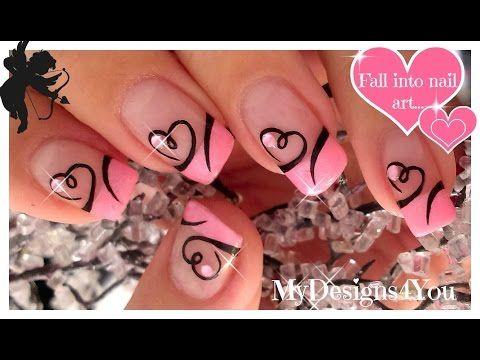 Easy Valentine's Day Nail Art | Diseño de Uñas San Valentín ♥ Дизайн Ногтей Ко Дню Влюбленных - YouTube