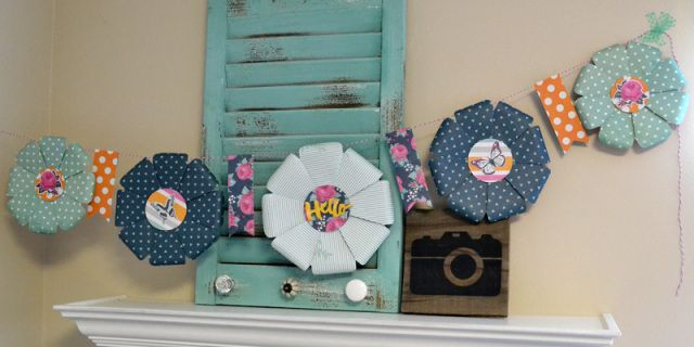 We R Flower Punch Board Garland by Aly Dosdall