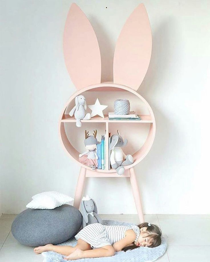 Bunnies in Kids Interiors - décor, wallpaper, decals, plushtoys..
