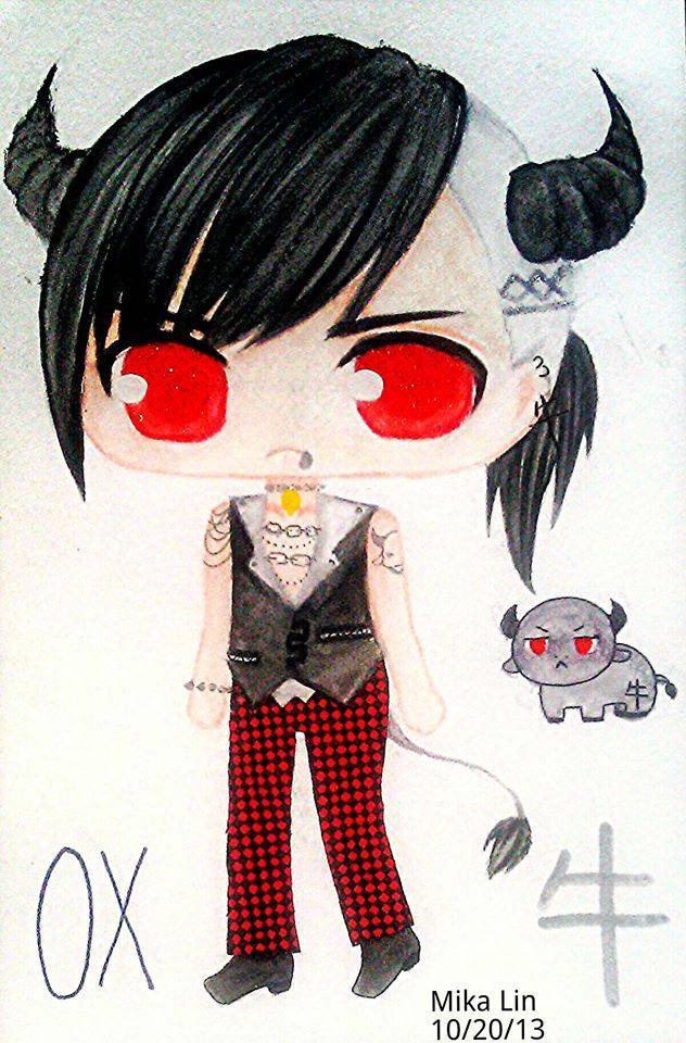 chinese zodiac ox chibi by mikalincow chinese zodiac