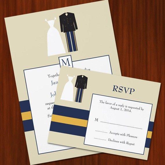 Army Wedding Invitation Set   PRINTABLE DIY