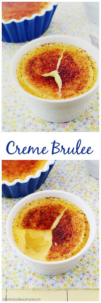 How to make Classic Creme Brulee at home with only four ingredients! Just like your favorite restaurant! cinnamonspiceandeverythingnice.com