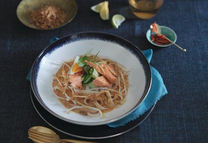 Regal Wood Roasted Salmon With Thai Coconut Noodle Soup