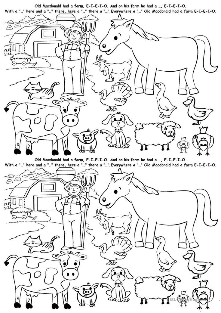 121 free esl farm animals worksheets for kindergarten