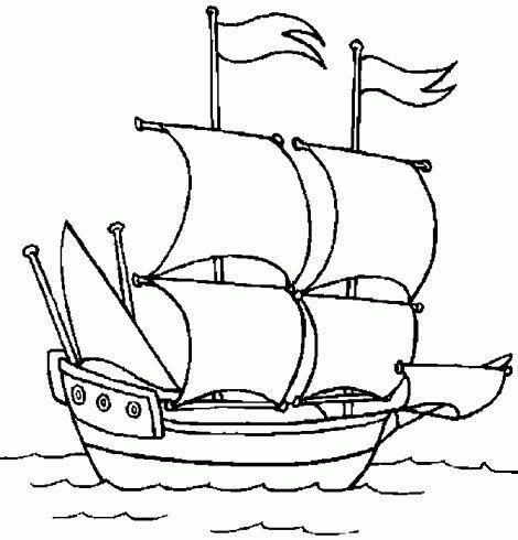 dessin de coloriages,bateau,navire,mer,voile