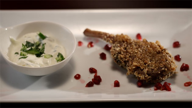 Dukkah Crusted Lamb with Radish Tzatziki