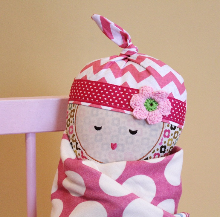 Baby Doll Gift Set Diaper Bag Blanket Bottle Soft Cloth