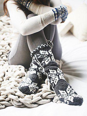 Super warm and cozy slipper socks