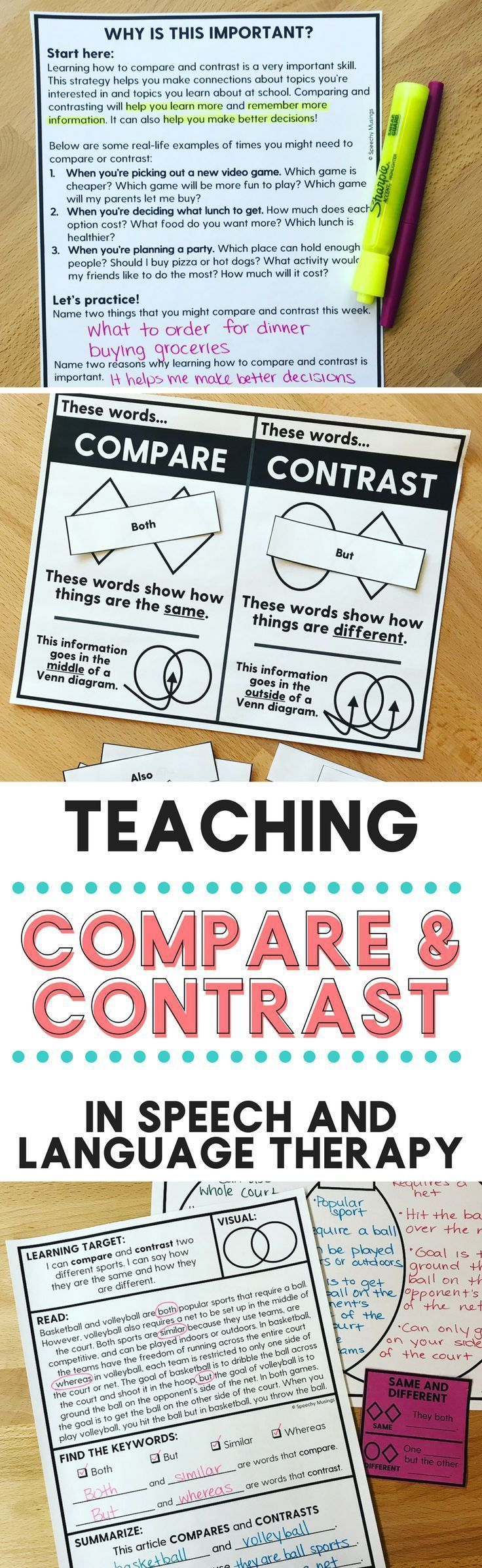 compare and contrast language 1 Plan your lesson in reading and english / language arts with helpful tips from teachers like you students will be able to write a compare and contrast essay.