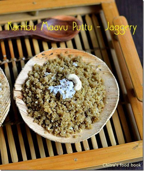 Kambu maavu sweet puttu/Pearl millet flour sweet puttu recipe !
