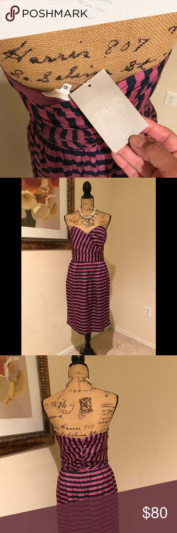 "Anthropologie dress Fab ""dinner date dress"" from the brand known to combine classy & comfy. Dress it up with pearls & your black, quilted Chanel caviar flap or, dress it down with denim jacket & a pair of cowboy boots. Never worn & with tags! Anthropologie Dresses Strapless"