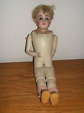 VINTAGE KESTNER DEP 8 1/2 MOLD 154 BISQUE HEAD DOLL JOINTED LEATHER BODY GERMANY