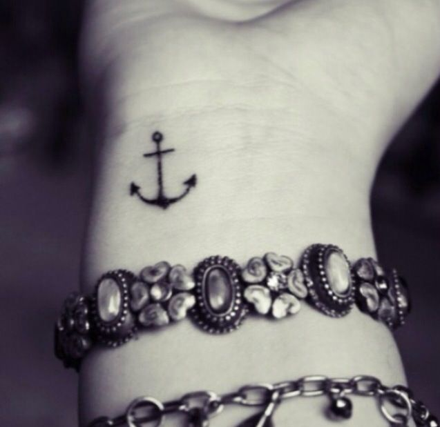 Small Tattoos For Girls - Anchor Wrist Tattoo | Tattoos ...