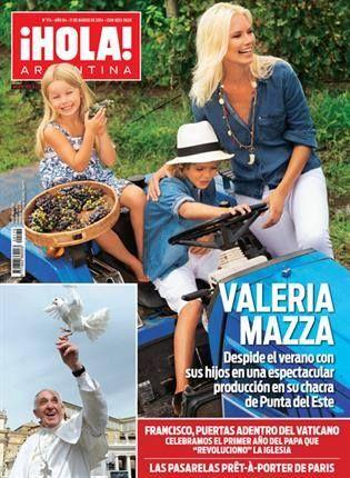 Valeria Mazza en la tapa de la Revista ¡HOLA! Argentina.