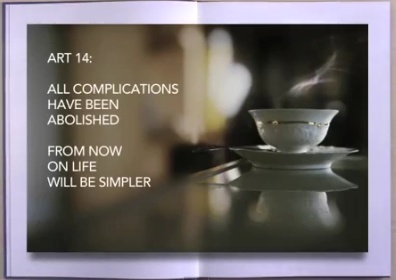 ART 14: All complications have been abolished. From now on life will be simpler.