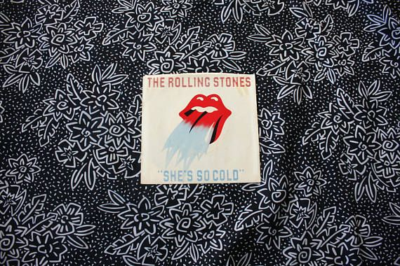 The Rolling Stones - Shes So Cold Vintage Vinyl 45 7 Record  Label: Rolling Stones Records  Format: Vinyl, EP, 7, Country: US  Released: 1980  Genre: Rock N Roll  Style: Clssic Rock  Tracklist: A Shes So Cold B Send It To Me Condition: VG+ Sleeve:(VG++++) some wear and discoloration but nothing too major at all Vinyl:(NM-) -----------------------------------------------------------  Vinyl Grading:  Mint(M): Refers to a sealed vinyl record that has obviously never been played.  Near Mint(NM)…