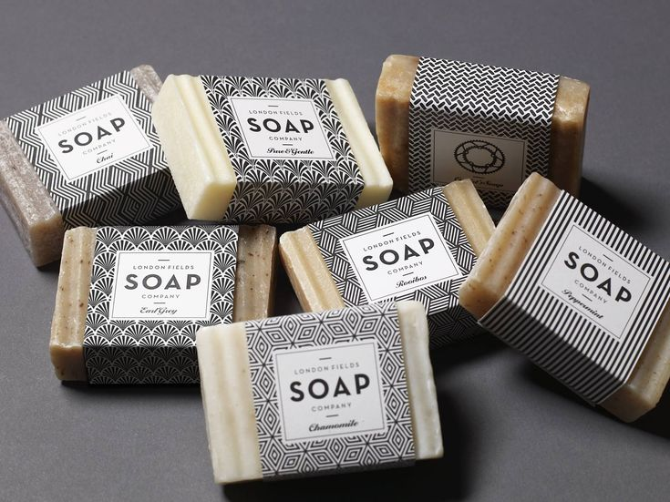 Identity and Pattern Design for London Fields Soap Company by One Darnley Road